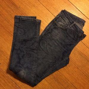 Parsley print jeans